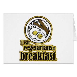 Vegetarians for Breakfast Card