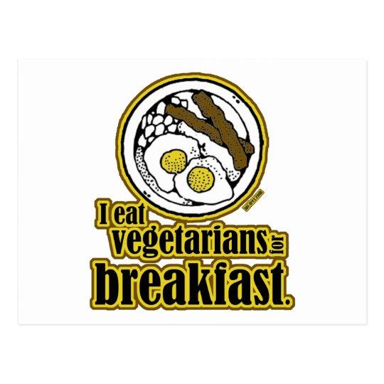 Vegetarians for Breakfast Postcard