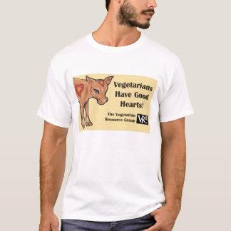 Vegetarians Have Good Hearts! T-shirt