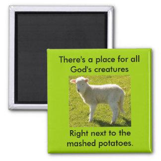 Vegetarians Nightmare 2 Inch Square Magnet
