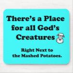 Vegetarians Nightmare Mouse Pad