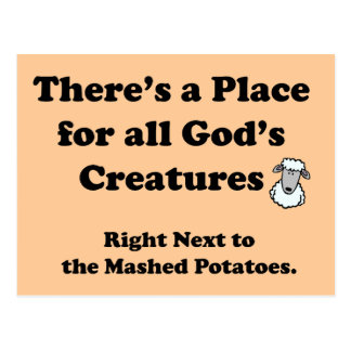 Vegetarians Nightmare Postcard