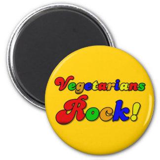 Vegetarians Rock 2 Inch Round Magnet