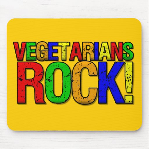 Vegetarians ROCK Mouse Pad