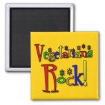 Vegetarians Rock (retro style) Fridge Magnet