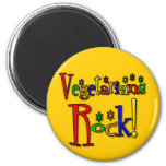 Vegetarians Rock (retro style) Refrigerator Magnets
