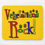 Vegetarians Rock (retro style) Mouse Pad