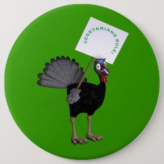 Vegetarians Rule! Button