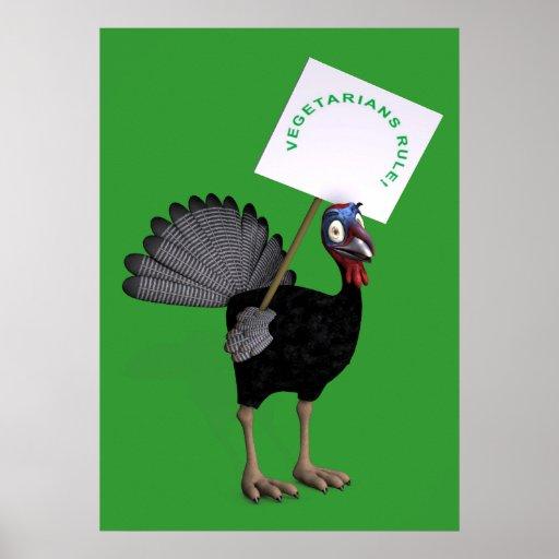 Vegetarians Rule! Poster