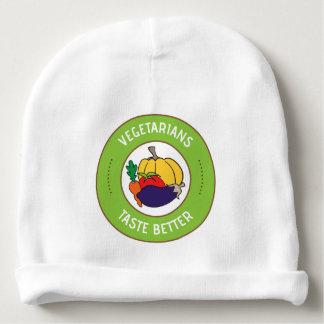 Vegetarians taste better baby beanie