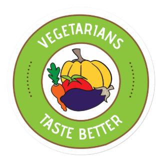 Vegetarians taste better card