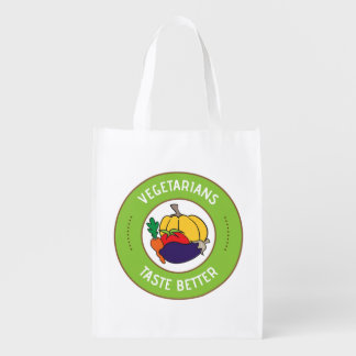 Vegetarians taste better reusable grocery bag
