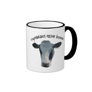 Vegetarians Taste Better Ringer Coffee Mug