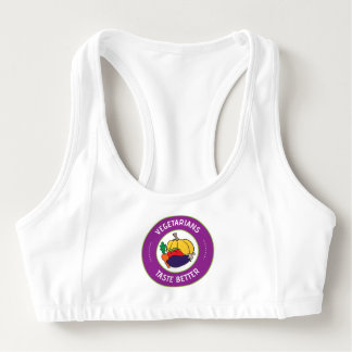 Vegetarians taste better sports bra