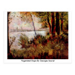 Vegetated Slope By Georges Seurat Post Cards