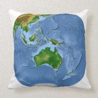 Vegetation Map 2 Throw Pillow