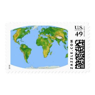 Vegetation Map 4 Postage Stamp