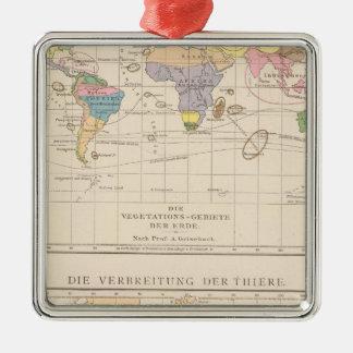 Vegetationsgebiete, Thiere Atlas Map Christmas Ornament