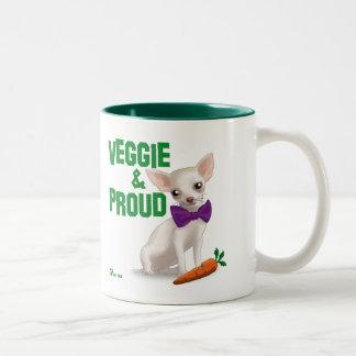 Veggie and Proud Two-Tone Coffee Mug