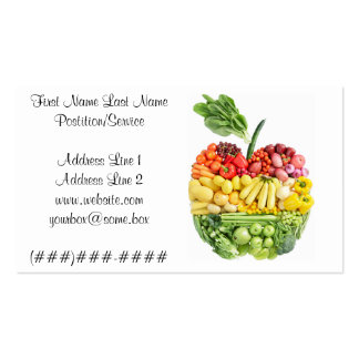 Veggie Apple Double-Sided Standard Business Cards (Pack Of 100)