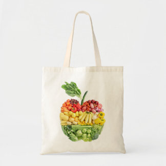 Veggie Apple Tote Bag