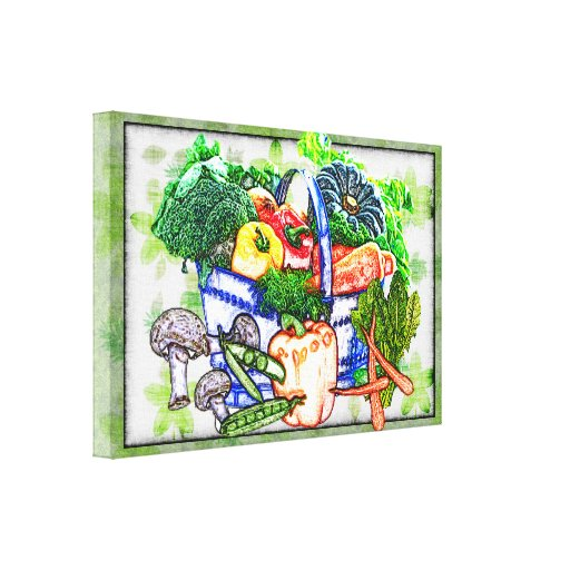 Veggie Basket Gallery Wrapped Canvas