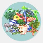 Veggie Basket Classic Round Sticker