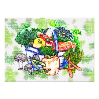 Veggie Basket Personalized Invite