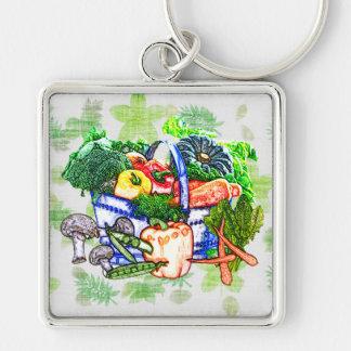 Veggie Basket Keychain