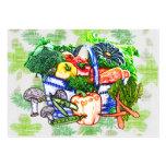 Veggie Basket Large Business Cards (Pack Of 100)