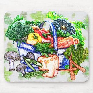 Veggie Basket Mouse Pad