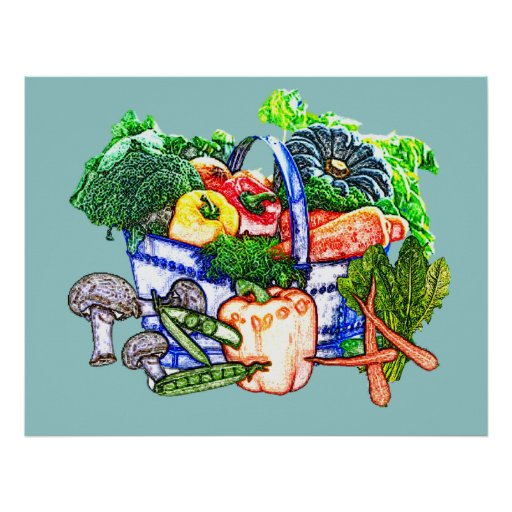 Veggie Basket Poster