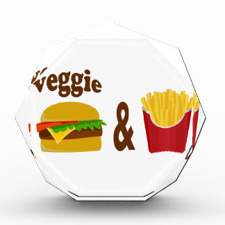 Veggie Burger and Fries Acrylic Award