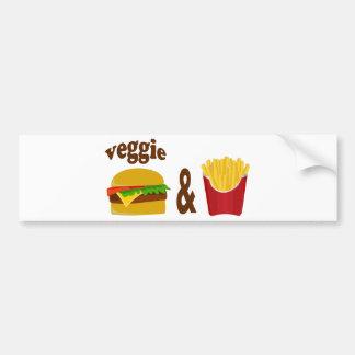 Veggie Burger and Fries Car Bumper Sticker