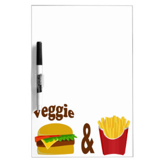 Veggie Burger and Fries Dry-Erase Board