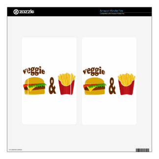 Veggie Burger and Fries Kindle Fire Skin