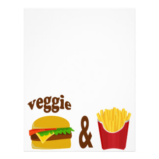 Veggie Burger and Fries Letterhead