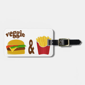 Veggie Burger and Fries Luggage Tag