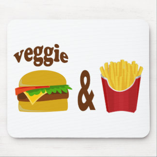 Veggie Burger and Fries Mouse Pad