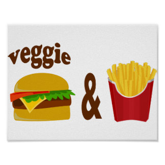 Veggie Burger and Fries Poster