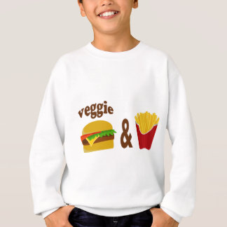 Veggie Burger and Fries Sweatshirt