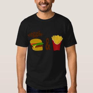 Veggie Burger and Fries Tee Shirt