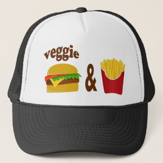 Veggie Burger and Fries Trucker Hat