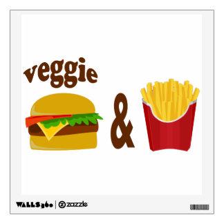 Veggie Burger and Fries Wall Sticker