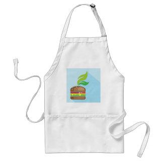 Veggie Burger Vector Art Adult Apron
