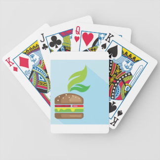 Veggie Burger Vector Art Bicycle Playing Cards