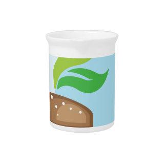 Veggie Burger Vector Art Drink Pitchers