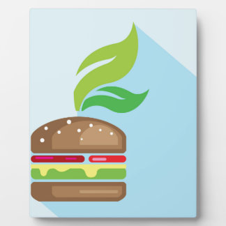Veggie Burger Vector Art Plaque