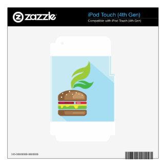 Veggie Burger Vector Art Skins For iPod Touch 4G