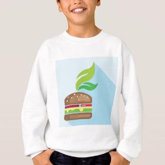Veggie Burger Vector Art Sweatshirt